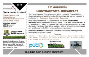 811 Breakfast Postcard Invitation Mailing 2018