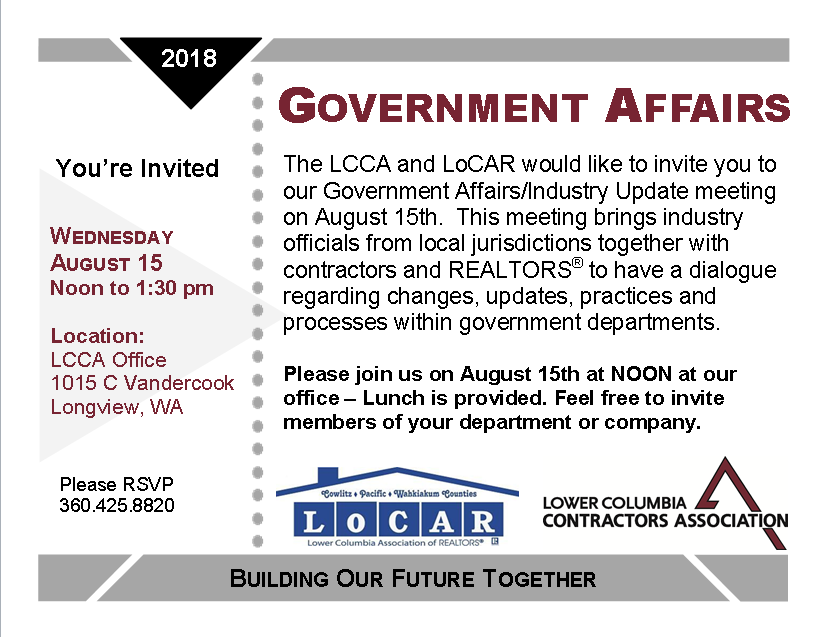 Government Affairs Post Card August