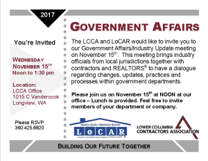 Government Affairs Post Card November