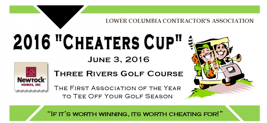 2016 Cheaters Cup Golf Web Banner