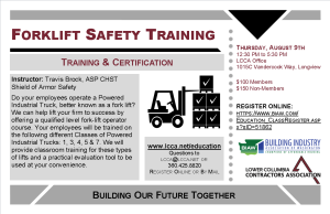 2018 Forklift Training Postcard