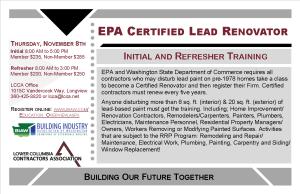 EPA Lead Renovator Class Postcard