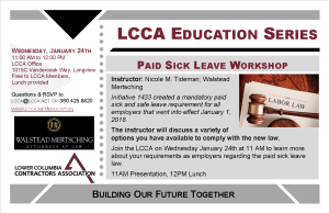 January Sick Leave Workshop Postcard