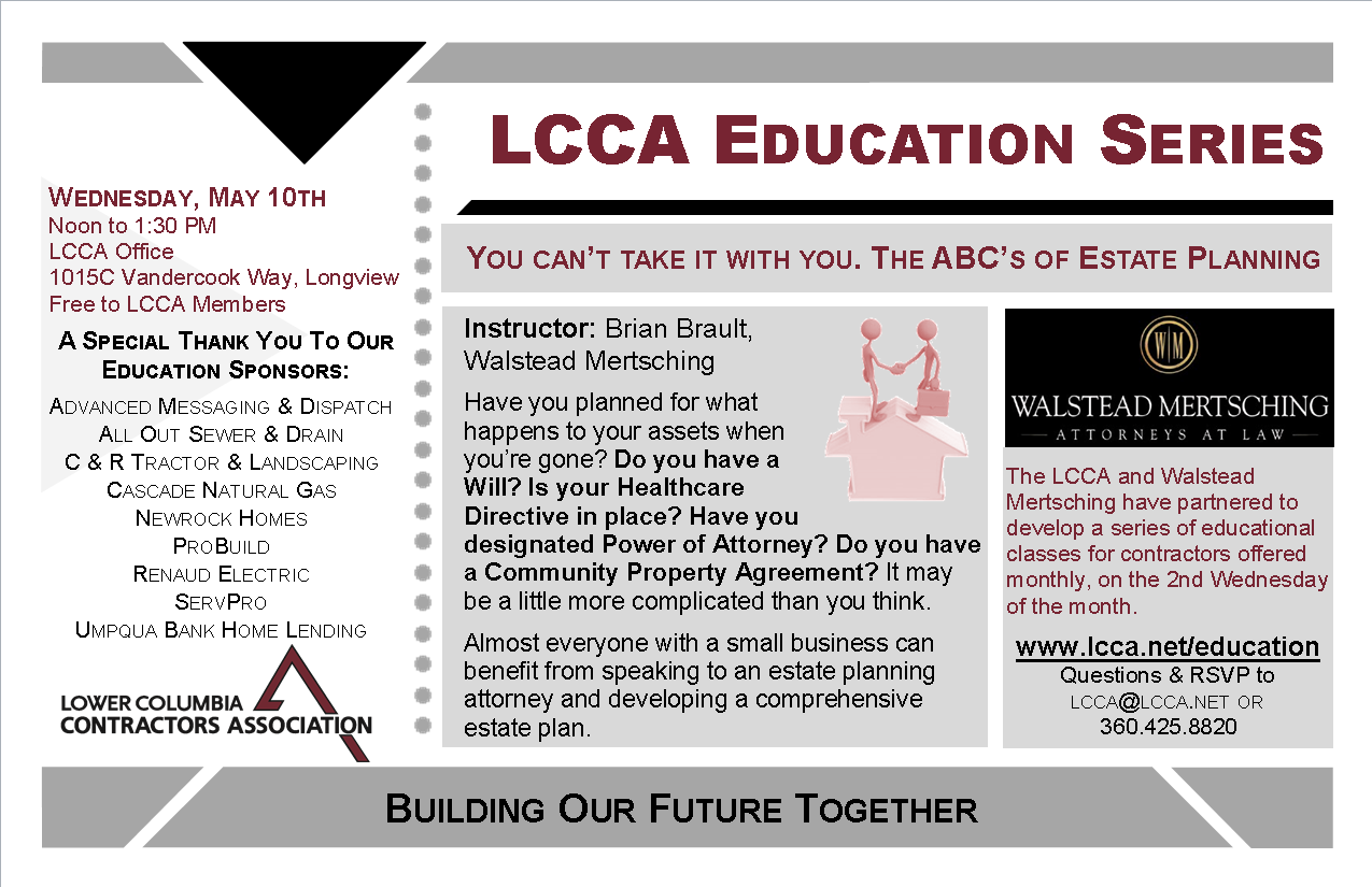 May Class Postcard ABCs of Estate Planning