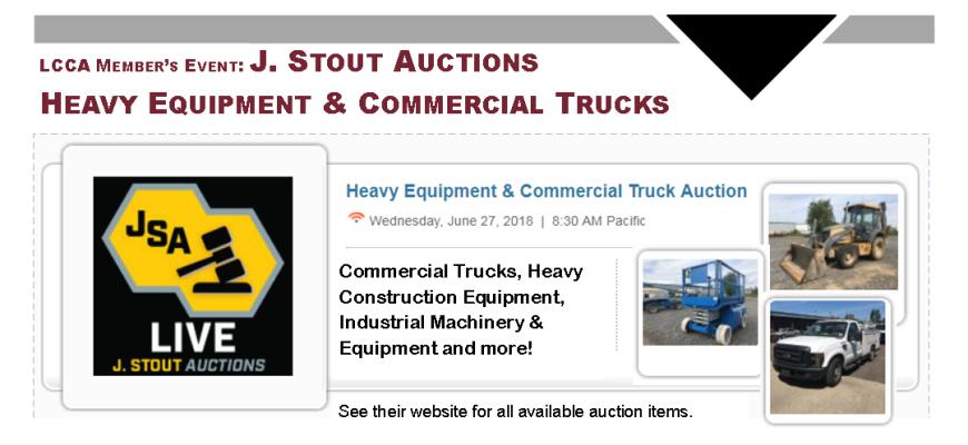 J Stout June 27 Auction Web Banner