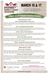 2019 Gardening Workshop Poster